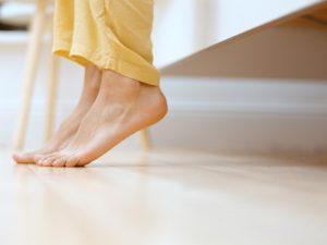 Plantar Fasciitis is healing Morning First Steps